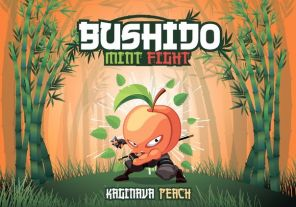 "Е-жидкость Bushido Mint Fight ""Kaginava Peach"", 100 мл."