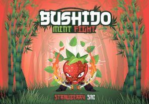 "Е-жидкость Bushido Mint Fight ""Strawberry Sai"", 100 мл."