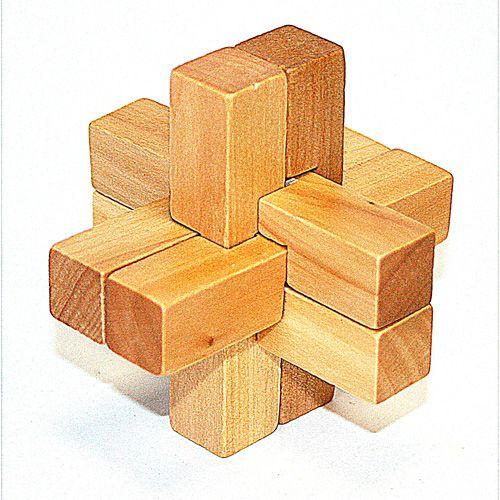 Головоломка деревянная в кор. Крест