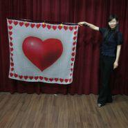 """Гигантский шёлковый флаг """"Сердца"""" 140 * 120 см"""