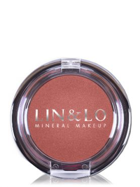 LIN&LO Румяна компактные минеральные LLBL12 розово - коричневый