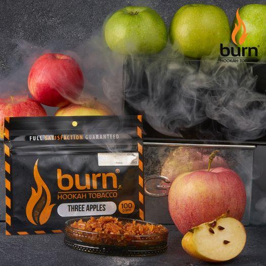 Табак Burn - Three Apples (Двойное яблоко и лакрица) 100 гр