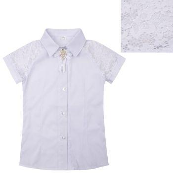 Блузка школьная белая №2419