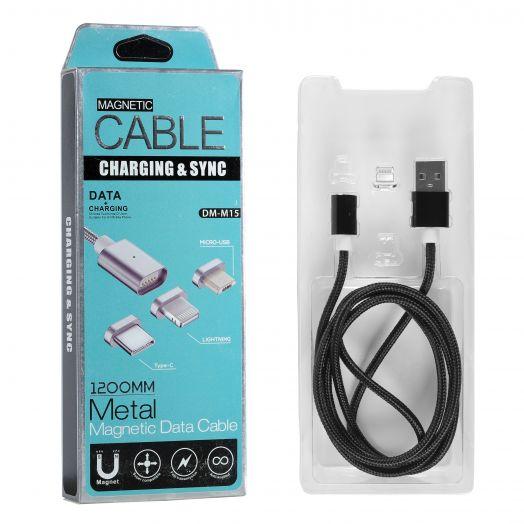 Шнур Lightning USB магнитный DM-M15