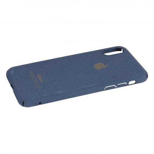 Чехол iPhone X пластик soft (синий)