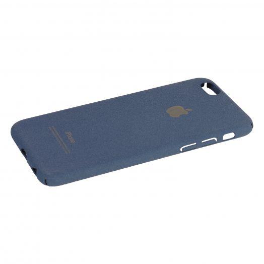 Чехол iPhone 6|6s пластик soft (синий)