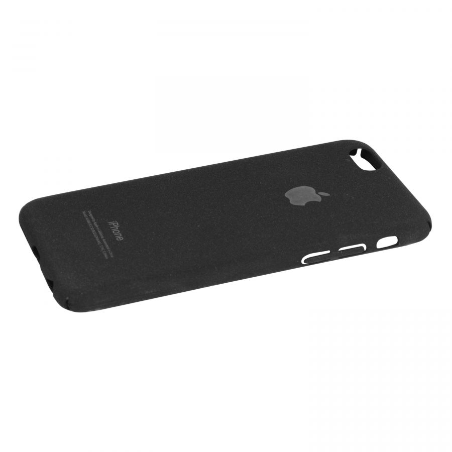 Чехол iPhone 6|6s пластик soft (черный)