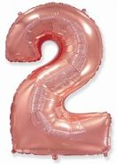 "Фигура ""2""  (40""/102 см) розовое золото"
