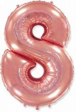 "Фигура ""8""  (40""/102 см) розовое золото"