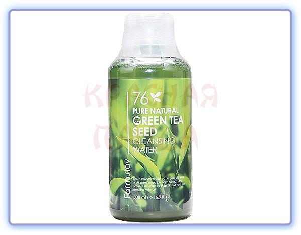 Очищающая вода для кожи лица с экстрактом зеленого чая