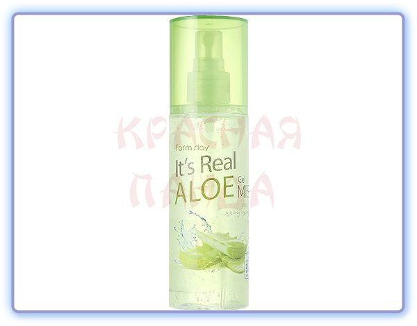 Гель-спрей для лица с алоэ It's Real Gel Mist Aloe Farmstay