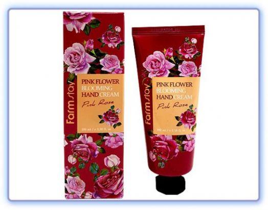 Крем для рук с экстрактом розы Pink Flower Blooming Hand Cream Pink Rose Farmstay