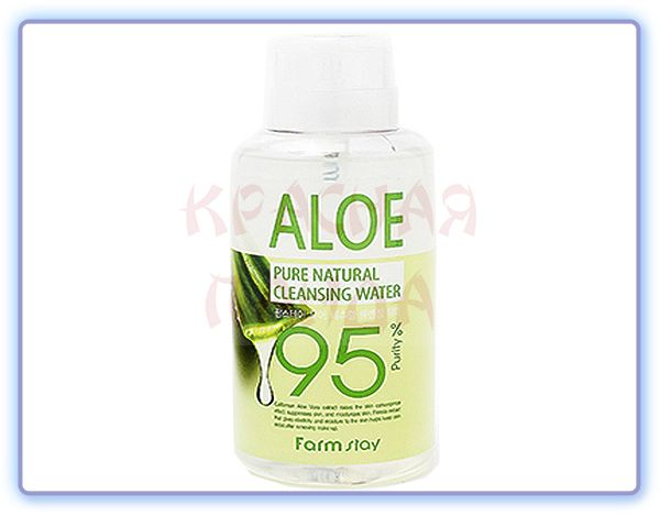 Очищающая вода с экстрактом алоэ Pure Natural Cleansing Water Aloe Farmstay