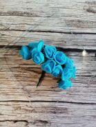 роза из фоамирана диаметр 20 мм ГОЛУБАЯ  цена за 3 шт