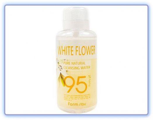 Очищающая вода с экстрактом белых цветов Pure Cleansing Water White Flower