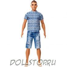 Кукла Кен Модник Потертые джинсы - Ken Fashionistas Doll 13 Distressed Denim - Broad