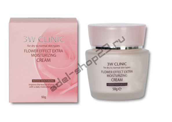 3W Clinic - Увлажняющий крем с цветочными экстрактами