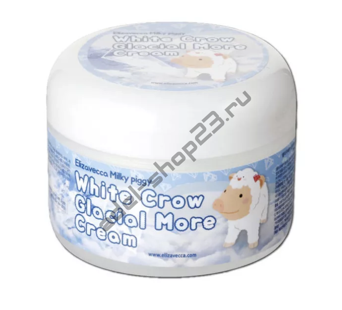 ELIZAVECCA Milky Piggy White Crow Glacial More Cream - Осветляющий крем для лица