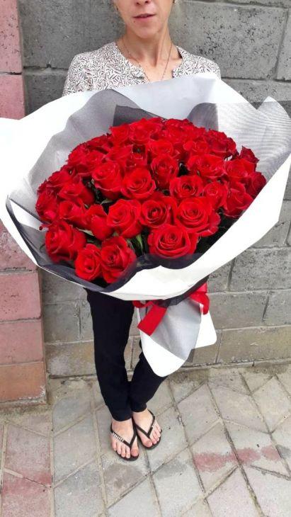 Букет Гигант из 51 Импортной  розы