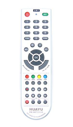 Пульт ТВ универсальный HUAYU RM-SAT1111+E (DVB-T2/SAT/TV)