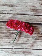 роза бумажная диаметр 1,5 см ФУКСИЯ   цена за 5 шт
