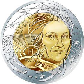 Симона Вейль (1927-2017) 2 евро Франция 2018