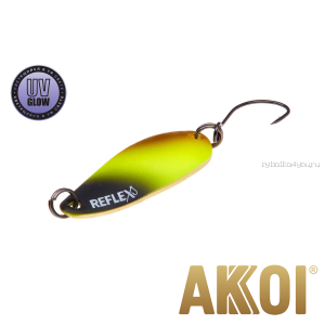 Колеблющаяся блесна Akkoi Reflex Hobo 2,9 см / 2,3гр / цвет:  R02 UV