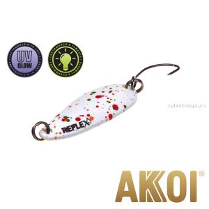 Колеблющаяся блесна Akkoi Reflex Hobo 2,9 см / 2,3гр / цвет:  R04 UV и светонакопитель