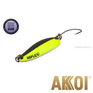 Колеблющаяся блесна Akkoi Reflex Hobo 2,9 см / 2,3гр / цвет:  R10 UV