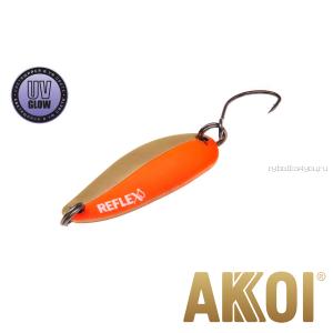 Колеблющаяся блесна Akkoi Reflex Hobo 2,9 см / 2,3гр / цвет:  R13 UV