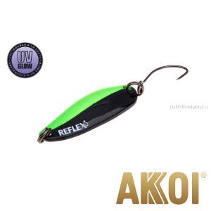 Колеблющаяся блесна Akkoi Reflex Hobo 2,9 см / 2,3гр / цвет:  R14 UV