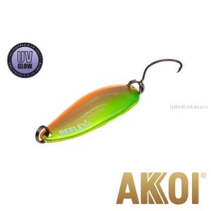 Колеблющаяся блесна Akkoi Reflex Hobo 2,9 см / 2,3гр / цвет:  R16 UV