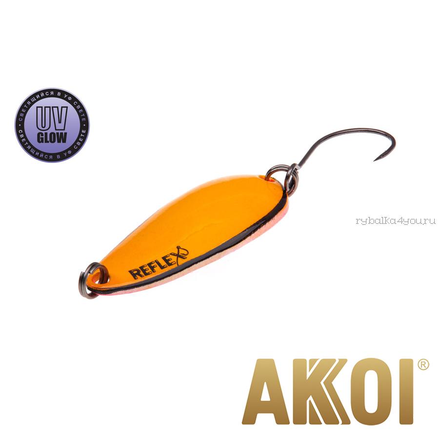 Колеблющаяся блесна Akkoi Reflex Hobo 2,9 см / 2,3гр / цвет:  R17 UV