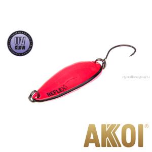 Колеблющаяся блесна Akkoi Reflex Hobo 2,9 см / 2,3гр / цвет:  R18 UV