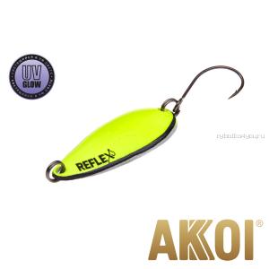 Колеблющаяся блесна Akkoi Reflex Hobo 2,9 см / 2,3гр / цвет:  R19 UV