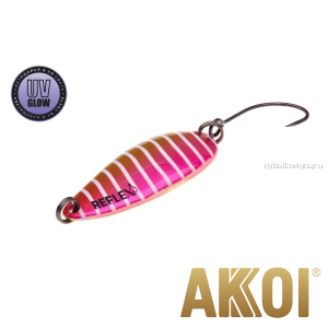 Колеблющаяся блесна Akkoi Reflex Hobo 2,9 см / 2,3гр / цвет:  R20 UV