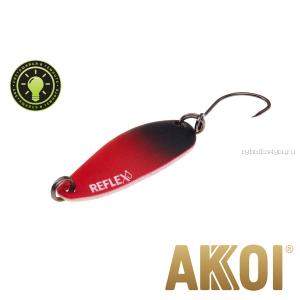 Колеблющаяся блесна Akkoi Reflex Hobo 2,9 см / 2,3гр / цвет:  R21  светонакопитель
