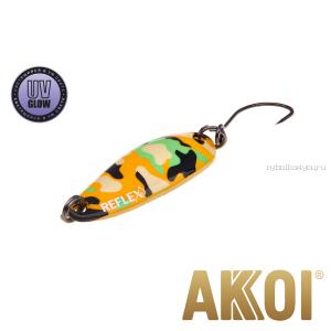 Колеблющаяся блесна Akkoi Reflex Hobo 2,9 см / 2,3гр / цвет:  R24 UV