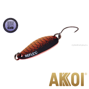 Колеблющаяся блесна Akkoi Reflex Hobo 2,9 см / 2,3гр / цвет:  R27 UV