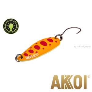 Колеблющаяся блесна Akkoi Reflex Hobo 2,9 см / 2,3гр / цвет:  R29  светонакопитель