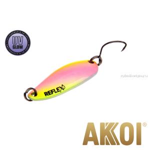 Колеблющаяся блесна Akkoi Reflex Hobo 2,9 см / 2,3гр / цвет:  R34 UV