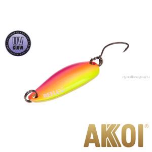 Колеблющаяся блесна Akkoi Reflex Hobo 2,9 см / 2,3гр / цвет:  R35 UV