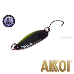 Колеблющаяся блесна Akkoi Reflex Hobo 2,9 см / 2,3гр / цвет:  R38 UV