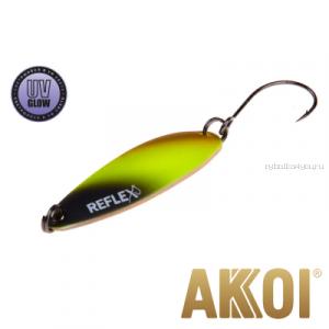 Колеблющаяся блесна Akkoi Reflex Legend 3,5 см / 3,1 гр / цвет: R02 UV