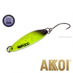 Колеблющаяся блесна Akkoi Reflex Legend 3,5 см / 3,1 гр / цвет: R03 UV