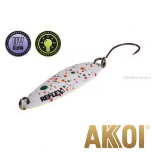Колеблющаяся блесна Akkoi Reflex Legend 3,5 см / 3,1 гр / цвет: R04 UV и светонакопитель