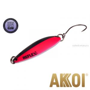 Колеблющаяся блесна Akkoi Reflex Legend 3,5 см / 3,1 гр / цвет: R08 UV