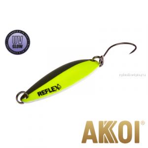 Колеблющаяся блесна Akkoi Reflex Legend 3,5 см / 3,1 гр / цвет: R10 UV