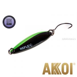 Колеблющаяся блесна Akkoi Reflex Legend 3,5 см / 3,1 гр / цвет: R14 UV
