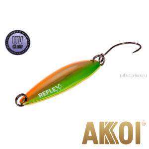 Колеблющаяся блесна Akkoi Reflex Legend 3,5 см / 3,1 гр / цвет: R16 UV